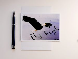 Fly High A6 Greetings Card