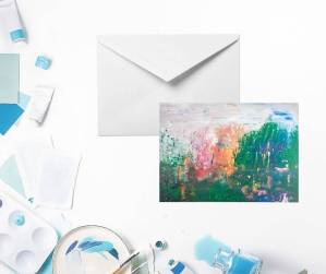 Unique Abstract Greeting Card | Abstract Lake by Yours Faithfully Hannah Kirk