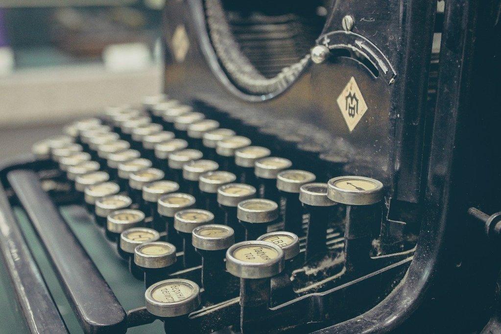 typewriter, mechanical, retro