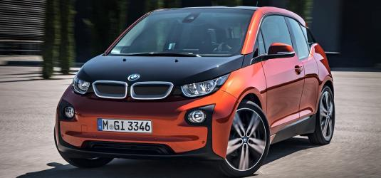 BMW electric SUV car