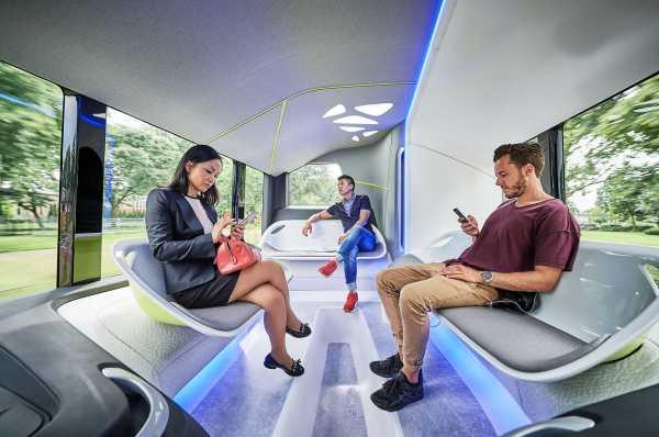 Mercedes Benz Bus interior