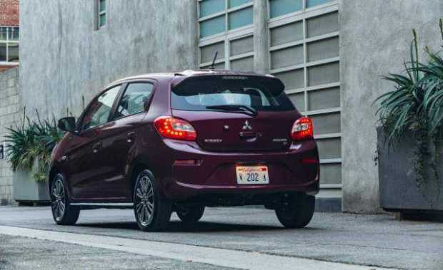 2017 Mitsubishi Mirage rear