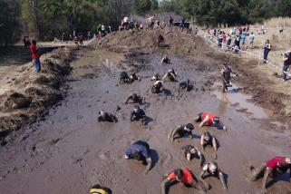 The Warrior Race presented the participants with an outdoor muddy spa treatment.