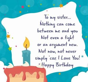 Best Birthday Status & Quotes for sister