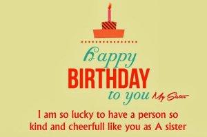 Happy Birthday Status For Sister