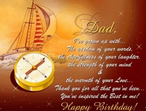 father happy birthday message