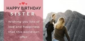 Sentimental Birthday Greetings For Sisters