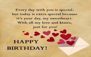 Happy Birthday message for Girlfriend