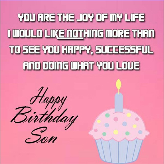 Happy birthday son wishes for whatsapp