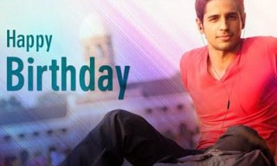 sidharth malhotra birthday