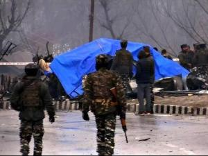 pulwama attack images