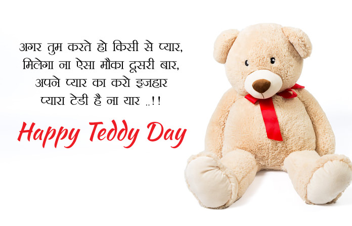 Proposal with Teddy Day Wishes in Hindi