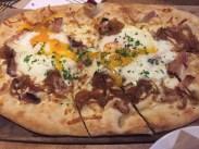 Pork Belly & Soft Egg Wood Board Pizzas