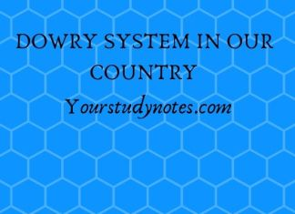 DOWRY SYSTEM IN OUR COUNTRY
