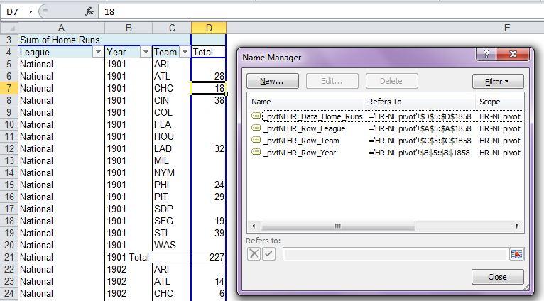 Create Pivot Table Named Ranges - yoursumbuddy