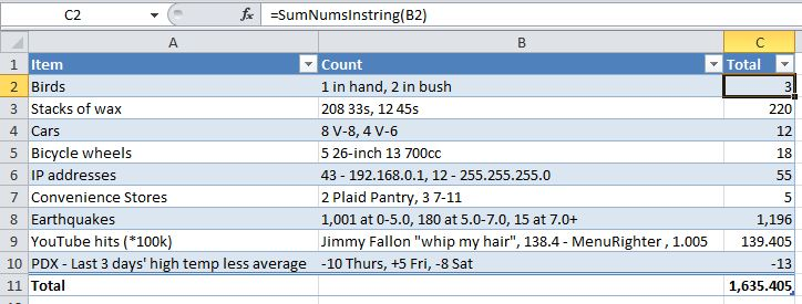 Regex Function to Sum Numbers in String - yoursumbuddy