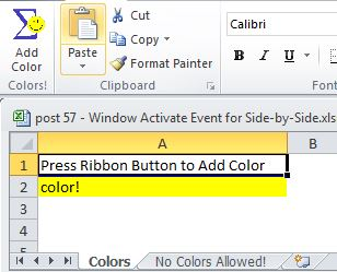 Add Color button