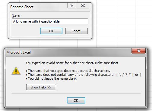 sheet name validation