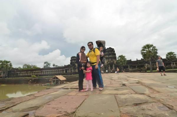 Panjat angkor di Siam Reap