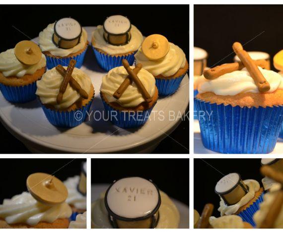 Beat Beat Drum Cupcakes