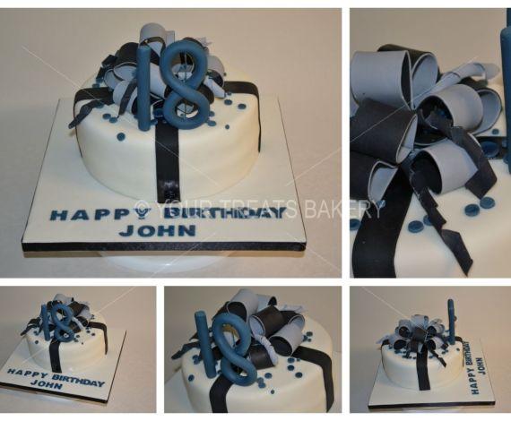 Grey & Black Explosion Cake