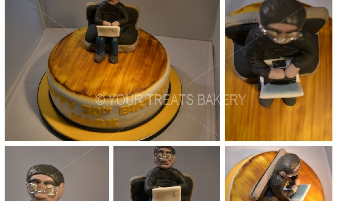 Laptop Guy Cake