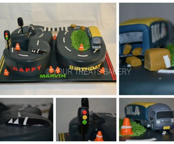 Lorry on the Road Cake