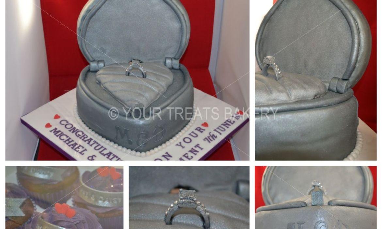Maisy Engagement Box Cake