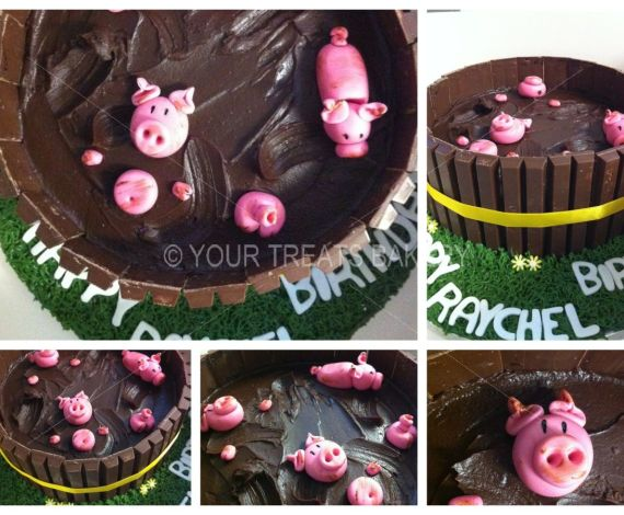 Pigs in Chocolate Cake