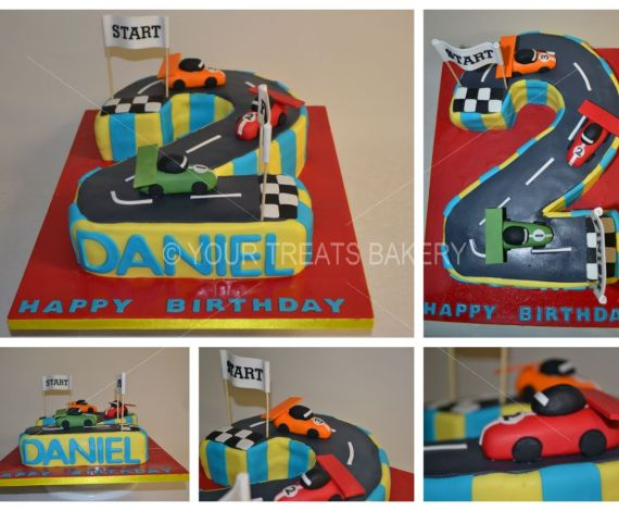 Racing 2 Finish Cake