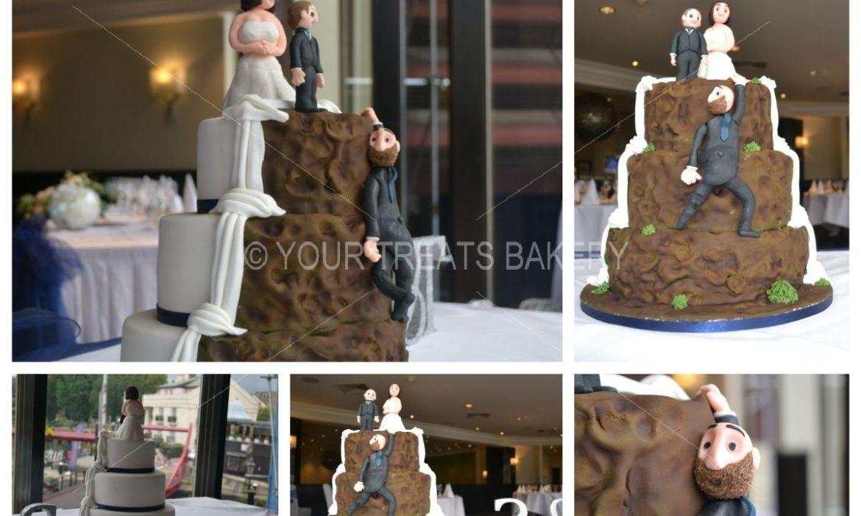 Rock Two Face Wedding Cake