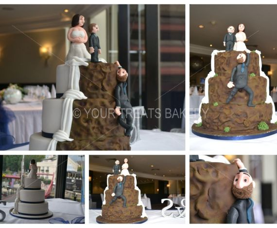 Rock Two Face Wedding Cake