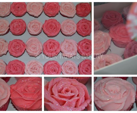 Rose Growth Cupcakes