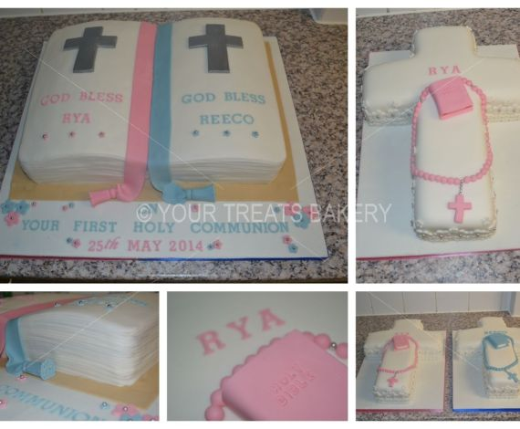 Twin Cross Christening Cake