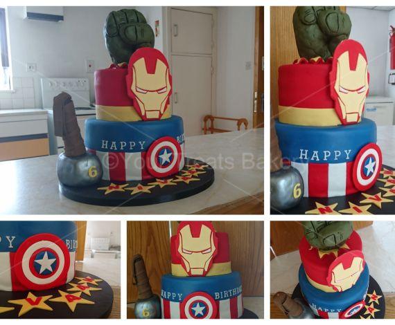 Avengers Tier Cake