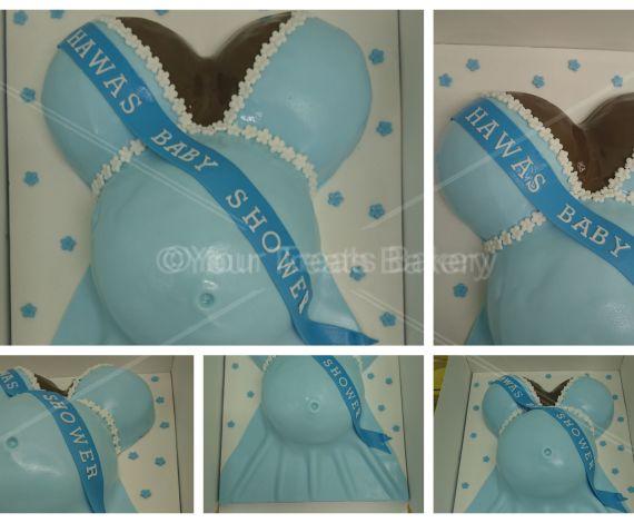 Pregnant Baby Bump Cake