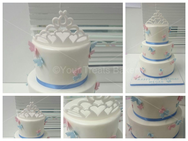 Butterfly Tiara Cake