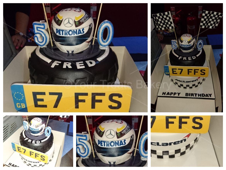 F1 McClaren Helmet Cake
