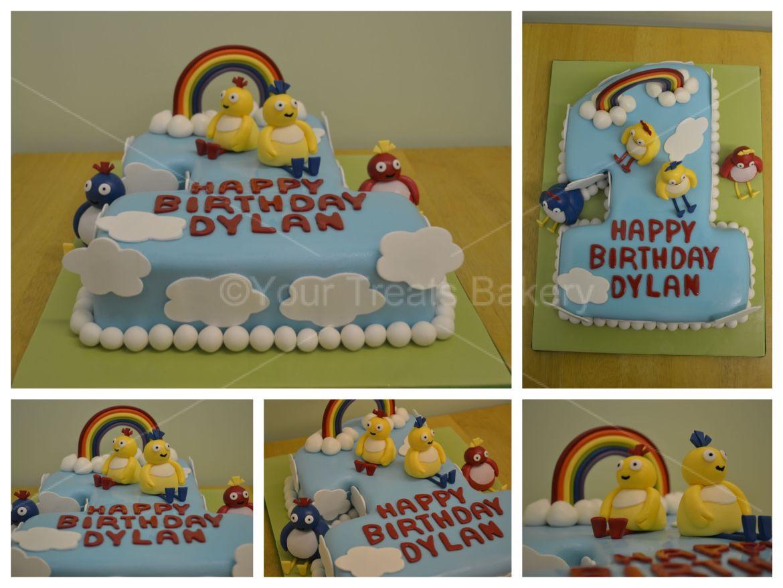 Number 1 Twirlywoos Cake