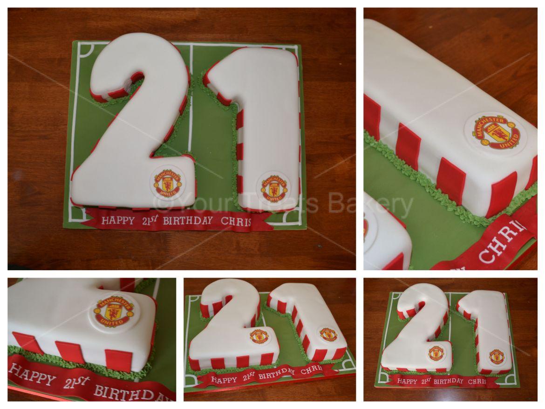 Number 21 Man United Cake