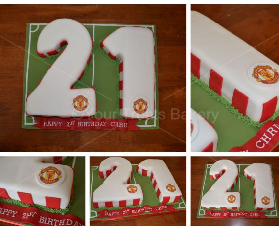 Number 21 Man United Cake