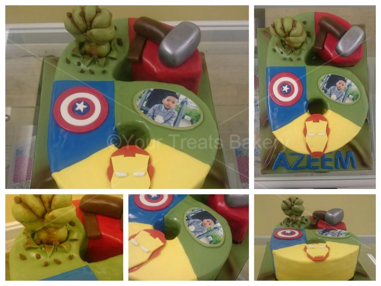 Number 6 Avengers Cake