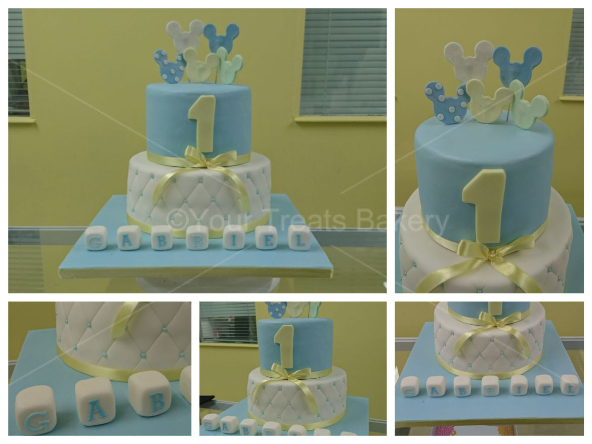 Pastel Mickey Mouse Disney Cake
