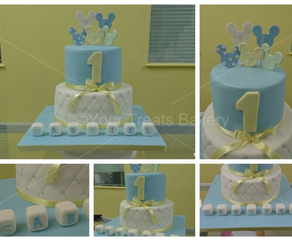 Pastel Mickey Mouse Disney Cake