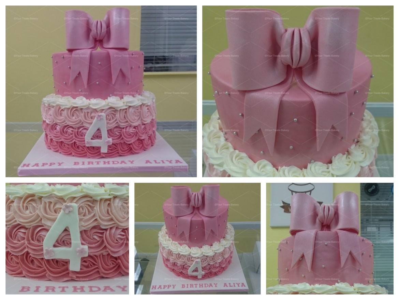 Bow Swirls Cake