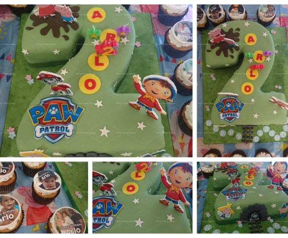Number 2 Kids Frenzy Cake