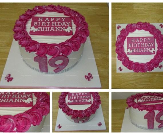 Rose Swirl Buttercream Delight Cake