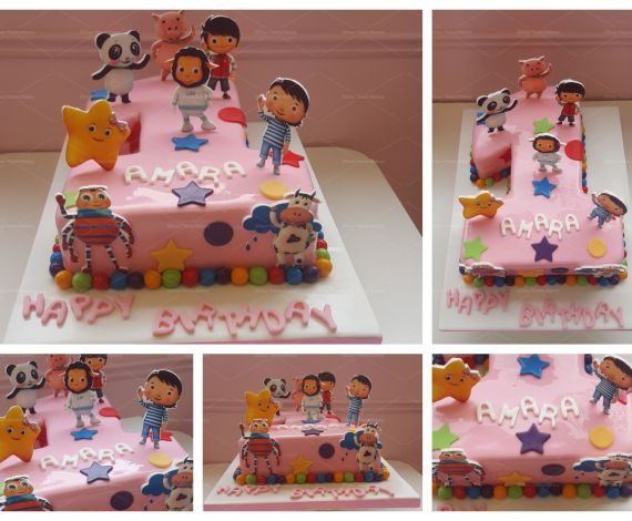 Little Baby Bum Number Cake