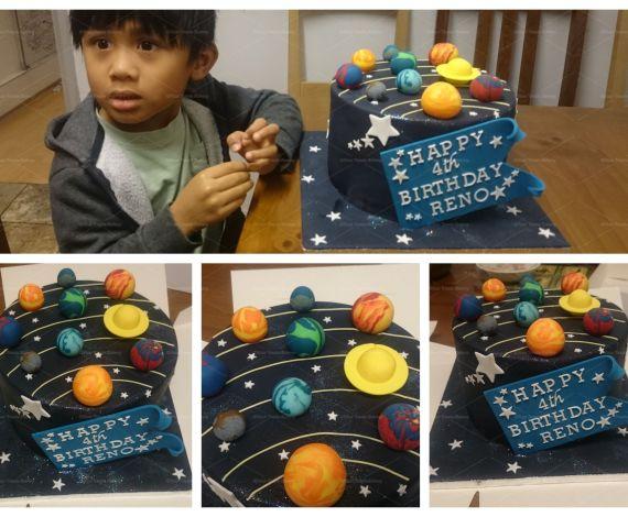 Planet & Solar System Cake