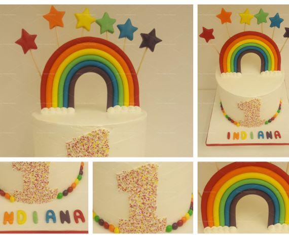Rainbow 1 Cake